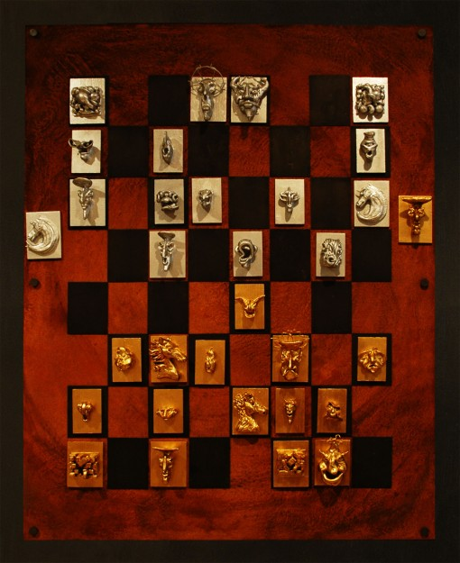 Rust Magnetic Chess Board